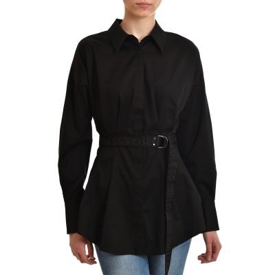 Guess Shirt Rhianna Popeline Belted-Black