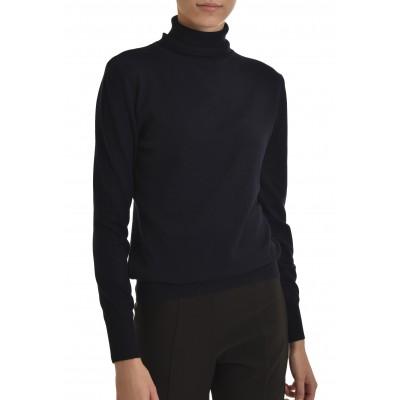 Innocent Knitted Blouse Turtleneck-DK Blue