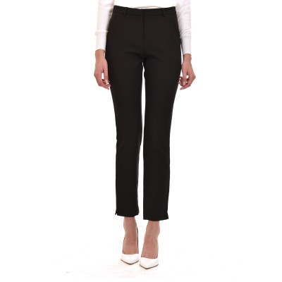 Innocent Trousers Straight Mid-rise Waist-Black