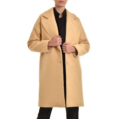 Milla Coat Two Buttons-Banana