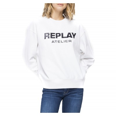Replay Sweatshirt Atelier Crewneck-White