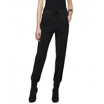 Replay Cotton Trousers With Lurex-Black