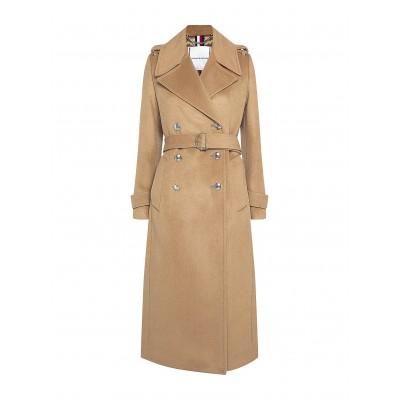 Tommy Hilfiger Coat Heavy Wool Blend DB Maxi-Classic Khaki