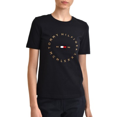 Tommy Hilfiger T-Shirt With Round Logo-Desert Sky