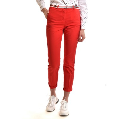 Tommy Hilfiger Pants Chinos CO Tencel Slim-Primary Red